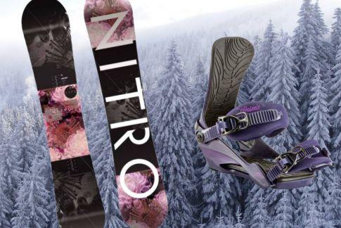 Dámský snowboard NITRO Fate + vázko Cosmic